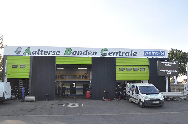 Le centre Point S à Aalter: ABC BANDEN BVBA - AALTERSE BANDEN CENTRAL