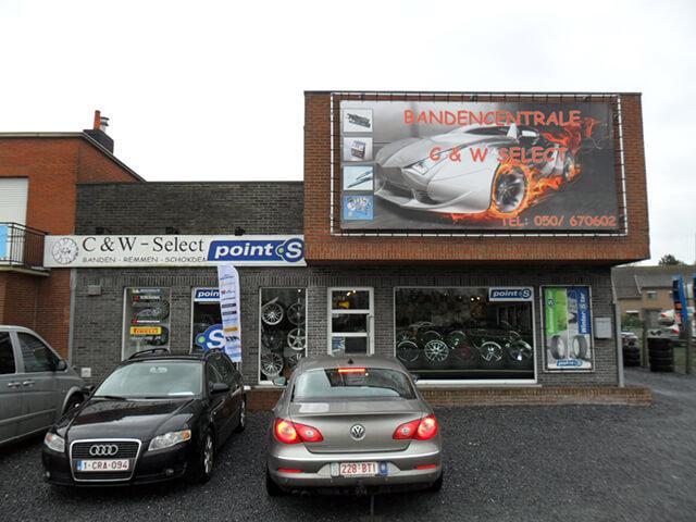 Le centre Point S à Maldegem: BANDEN CENTRALE C&W.-SELECT