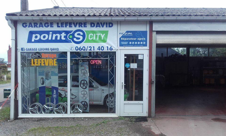 Le centre Point S City à Sivry: GARAGE LEFEVRE DAVID